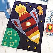 Rocket Outer Space Rug 70 x 100 cm