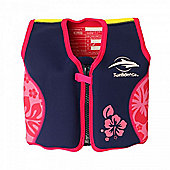 Konfidence Original Float Jacket Pink Hibiscus 18 Mths to 3 Yrs