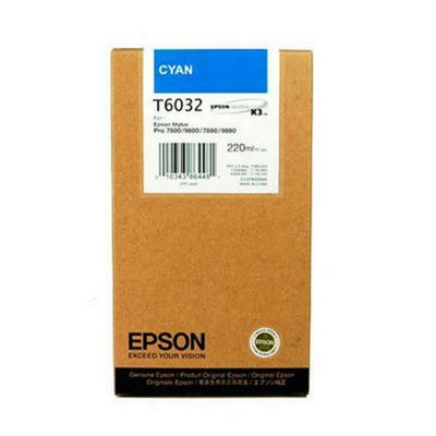 Epson T6032 Cyan (220ml) Ink Cartridge for Stylus Pro 7800/7880/9800/9880 Printers