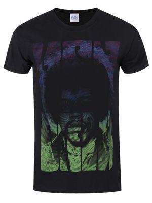 Jimi Hendrix Swirly Text Men's T-shirt, Black.