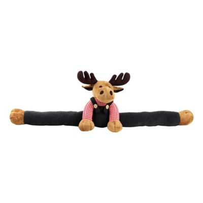 Plush Reindeer in Dungarees Christmas Draught Excluder