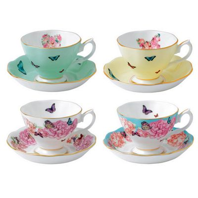 Royal Albert Miranda Kerr Set of 4 Teacups and Saucers