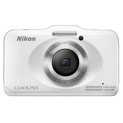 Nikon Coolpix S31 Digital Camera, White, 10MP, 3x Optical Zoom, 2.7 inch LCD Screen