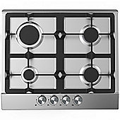 Cookology Gas Hob GH605SS | 60cm, Built-in, Stainless Steel & Cast Iron Pan Supports