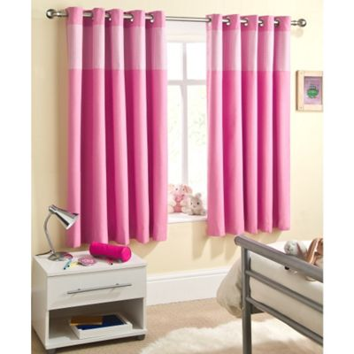Enhanced Living Sweetheart Pink Eyelet Curtains - 46x72 Inches (117x183cm)