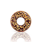 """Intex Inflatable Giant Donut Nutty Chocolate Swim Ring 45"""""""