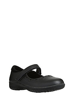 F&F Leather Mary Jane School Shoes - Black