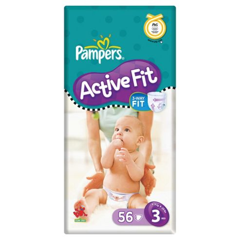 Pampers Active Fit Economy Pack Midi 56 (Size 3)