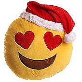 Puckator Christmas Emotive Heart Eyes Plush Cushion, 27cm