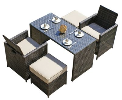 Maze Rattan Balcony Cube Dining Set
