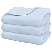 Fleece 3pk Blue Moses Blankets