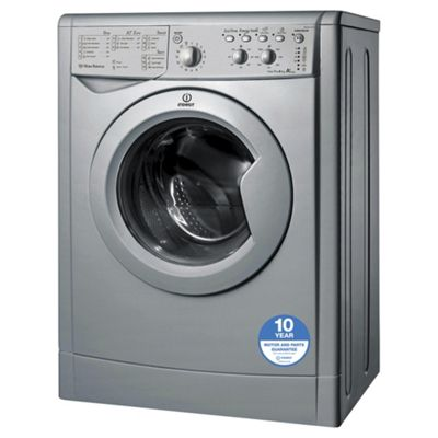 Indesit IWSC61251S Eco, Freestanding Washing Machine, 6Kg Wash Load, 1200 RPM Spin, A+ Energy Rating, Silver