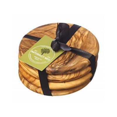 Naturally Med Round Coaster Set 9cm x 4