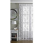 Vintage White Lace Panel Curtain W145cm x H137cm