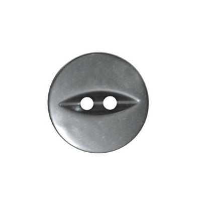 Hemline Grey Fish Eye Buttons 13.75mm 8pk