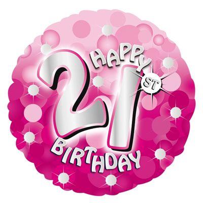 Buy Pink Sparkle Happy 21st Birthday Balloon From Our Pink Sparkle 21st Birthday Range Tesco