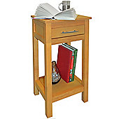 ASPEN - Solid Wood Storage Telephone / End Table - Light Wood