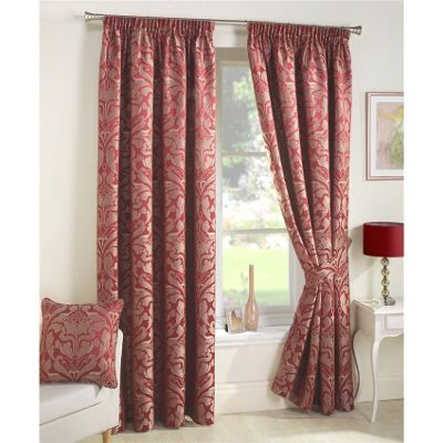 Buy Curtina Crompton Red Lined Curtains - 90x72 Inches (229x183cm ...