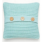 Catherine Lansfield Home Chunky Knit Cushion Cover (45x45cm) - Duck egg