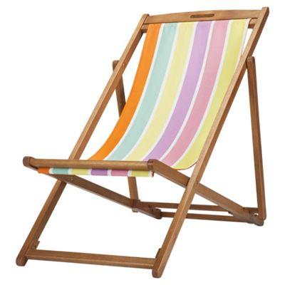 Tesco Bright Stripe Wooden Deckchair. Buy Tesco Bright Stripe Wooden Deckchair from our Deckchairs range
