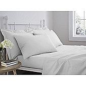 Catherine Lansfield 100% Cotton Housewife Pillowcase - Pair - White