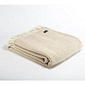 Tweedmill Textiles 100% Pure Wool Blanket Beehive Throw Design in Oatmeal