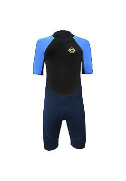 """TWF Mens Shortie 2.5mm Wetsuit Blue/Blue LGE 40/42"""""""