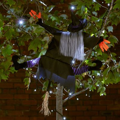 Halloween Crashing Witch Decoration