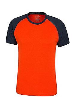 Mountain Warehouse Mens Tshirt UV Protection UPF30 Safe in the Sun High Wicking - Burnt orange