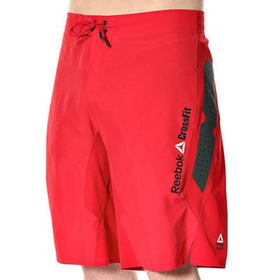 Reebok Crossfit Mens Matt Training Fitness Board Short Red - XL
