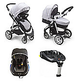 Mee-go Pramette Travel System With 2-Way Isofix Base - Grey