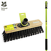 """Charles Bentley National Trust Garden 12"""" Stiff Pvc Outdoor Sweeping Broom With Handle"""