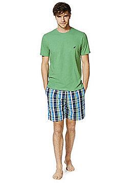 F&F T-Shirt and Woven Shorts Loungewear Set - Blue