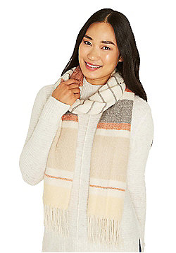 F&F Multi Stripe Fringed Scarf - Multi