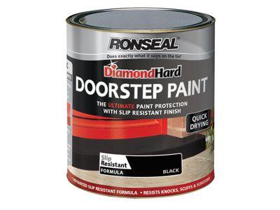 Ronseal Diamond Hard Doorstep Paint Black 750ml