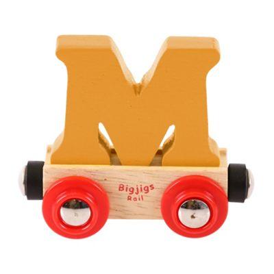Bigjigs Rail Rail Name Letter M (Orange)