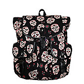 Banned Sugar Skull Black Satchel 39x38x14cm