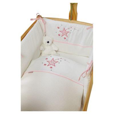 Clair De Lune Stardust Rocking Crib Bedding Set - Pink