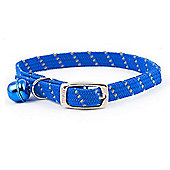 Ancol Acticat Softweave Reflective Cat Collar - Blue