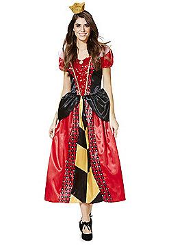 Disney Alice in Wonderland Queen of Hearts Adult Dress-Up Costume - Red