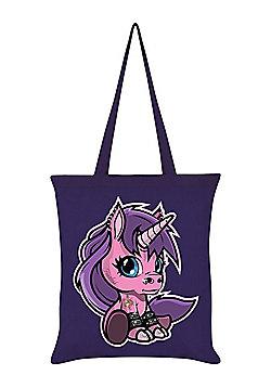 Fearless The Baby Unicorn Tote Bag 38x42cm Purple