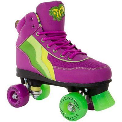 Rio Roller Classic II Grape Quad Roller Skates - UK 8
