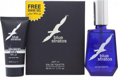 Parfums Bleu Limited Blue Stratos Gift Set 50ml EDT + 25ml Shave Gel For Men