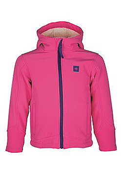 Arctic Kids Boys Girls Softshell Breathable Water-Resistant Hooded Jacket - Pink