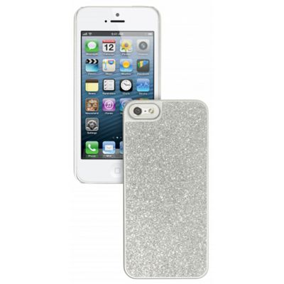 Trendz Glitter Case for iPhone 5 - Silver