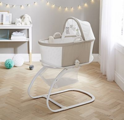 PurFlo Breathable Baby Bassinet Crib in Mushroom Spot
