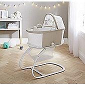 PurFlo Breathable Baby Bassinet Crib in Mushroom Spot