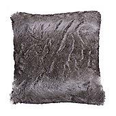 Bahne Grey Faux (Fake) Fur Cushion designed by Margit Brandt 50 x 50 cm