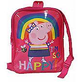 Peppa Pig 'Be Happy' Reversible School Bag Rucksack Backpack