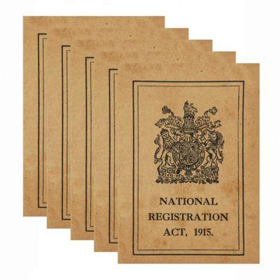 5 x WW1 Replica Great War ID Card - Teaching Aids or Props